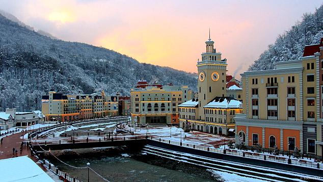 Курорты Сочи в новогодние праздники посетило рекордное число гостей. На фото: Роза Хутор.