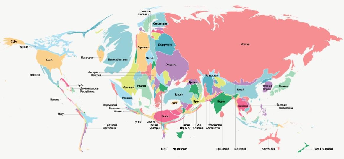 Страны, где популярен русский язык