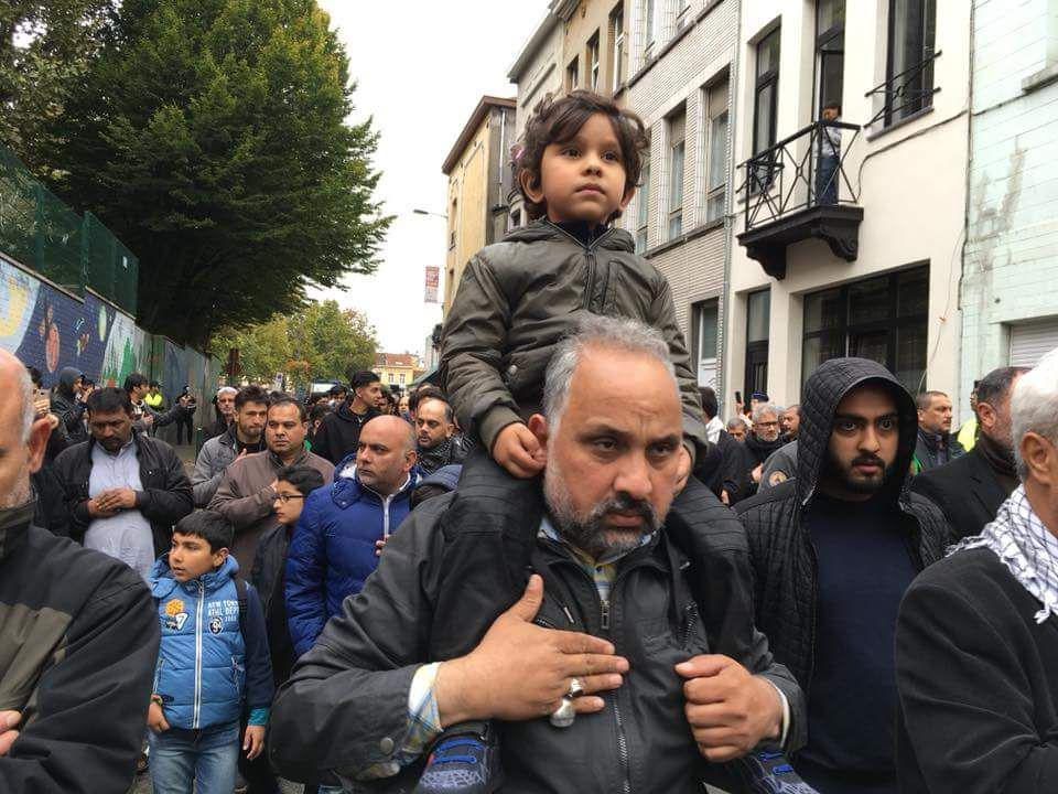 В Брюсселе был проведен протест, направленый против политики выдворения нелегальных мигрантов из страны