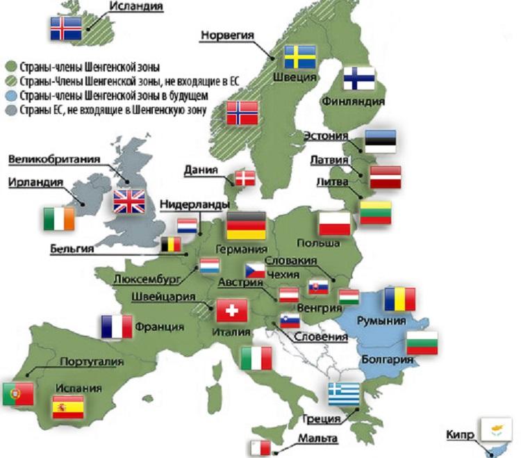 Страны Шенгенского соглашения: Условия въезда для россиян